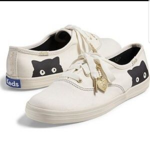 Taylor swift Keds sneaky cat white tennis shoe